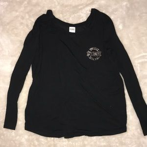 VS PINK Black / Gold Light Weight Long Sleeve
